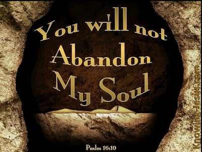 Psalm 16:10 You Will Not Abandon Me (gold)